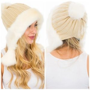 Sam Faux Fur Thick Knit Beanie